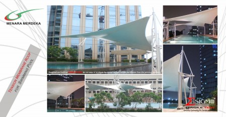 Menara Merdeka - Tension Membrane Roof for Swimming Pool